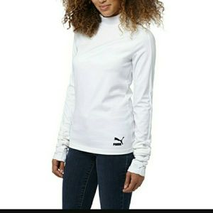 Nwt puma wht elongated long sleeve top